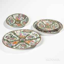 Five Rose Medallion Export Porcelain Table Items