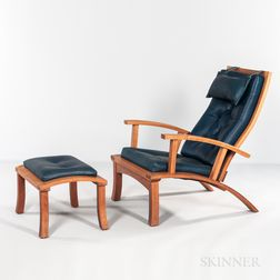 Thomas Moser Lolling Chair and Ottoman