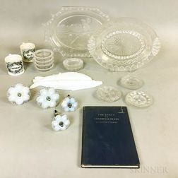 Group of Sandwich Glass and Related Items