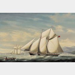 Salvatore Colacicco (Italian, b. 1935)      The Schooner Yacht Glory