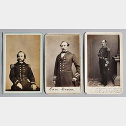 Three Carte-de-visite Photographs of 19th Century Naval Officers