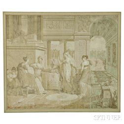 French Grisaille Wallpaper Panel