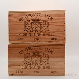 Chateau Pichon Baron 2008, 12 bottles (2 x owc)