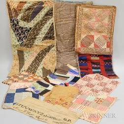 Twelve Early Calico Textiles and Fragments.     Estimate $300-500