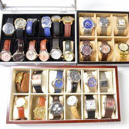 Thirty Designer Fashion Wristwatches