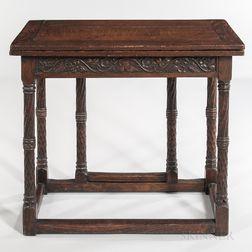 Renaissance-style Oak Card Table