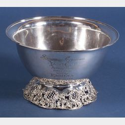 Black, Starr & Frost Sterling Trophy Punch Bowl