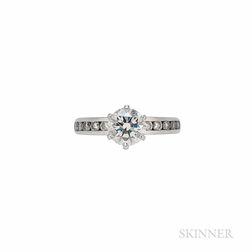 Tiffany & Co. Platinum and Diamond Solitaire