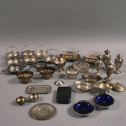Collection of Small Sterling Silver and Silver-plated Tableware