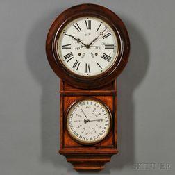 Rosewood Welch No. 4 Round Head Calendar Clock