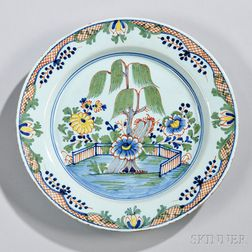 London Delft Polychrome Decorated Charger