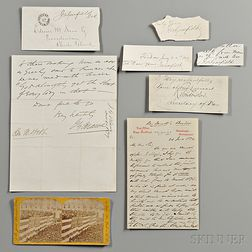 Garfield, James Abraham (1831-1881) Archive Containing Presidential Signed Items and Autographs of his Presidential Cabinet.