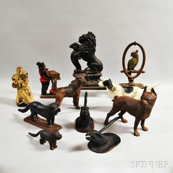 Eleven Animal-form Cast Iron Objects