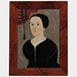 William Matthew Prior (Massachusetts/Maine, 1806-1873)      Portrait of a Woman in Black