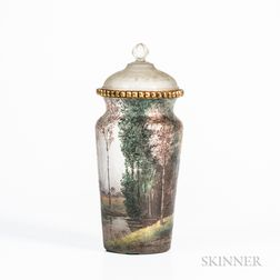 Handel Teroma Landscape-painted Covered Vase