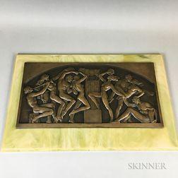 Paul Vincze Art Deco-style Bronze Plaque