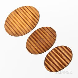 Three Walnut and Maple Hot Plates