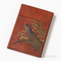 Red Lacquer Maki-e   Card Case