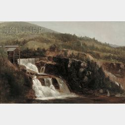 Attributed to Benjamin Champney (American, 1817-1907)      Rumford Falls