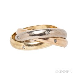 "18kt Gold and Diamond ""Trinity"" Ring, Cartier"