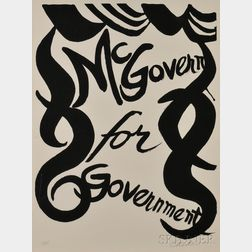 Alexander Calder (American, 1898-1976)      McGovern for Government