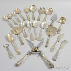 Approximately Twenty Sterling Silver Serving Pieces