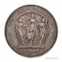 Silver British Victories of 1758/1759 Medal Mule