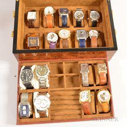 Eighteen Designer Fashion Wristwatches