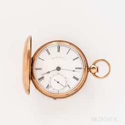 "Waltham ""P.S. Bartlett"" 14kt Gold Hunter-case Watch"