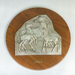 Horses Wall Plaque