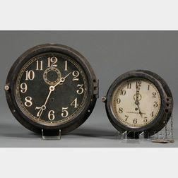 "Two Bakelite Cased Military ""Engine Room"" Clocks by Chelsea"