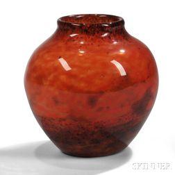 Muller Freres Art Glass Vase