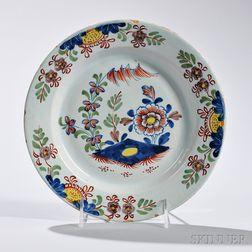 Polychrome Tin-glazed Earthenware Plate