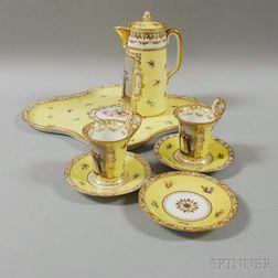 "Dresden Porcelain Tete-a-tete ""Chocolate Girl"" Set"
