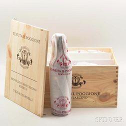Poggione Brunello di Montalcino Riserva Vigna Paganelli 2010, 6 bottles (owc)