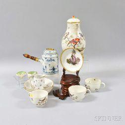 Twelve German Porcelain Tableware Items