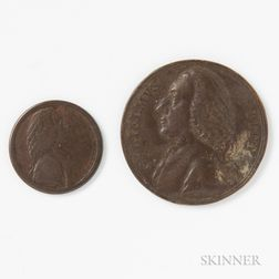Two Copper/Bronze William Pitt Medals/Tokens