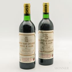 Chateau Pichon Longueville Lalande 1978, 2 bottles