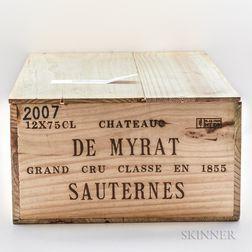 Chateau Myrat 2007, 12 bottles (owc)