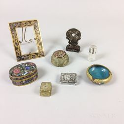Eight Small Decorative Metal Items