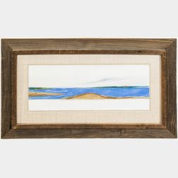 Framed Elise Brewster (American, 20th/21st Century) Pastel Close to the Almy Creek