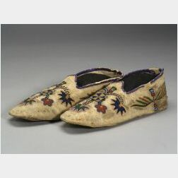 Eastern Plains Beaded Hide Moccasins