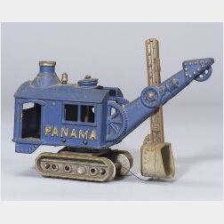 Hubley Cast-Iron Panama Steam Shovel