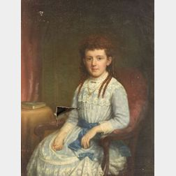 James Sullivan Lincoln (American, 1811-1888)  Portrait of a Little Girl in Blue