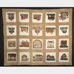 Appliquéd Cotton Civil War Era Quilt