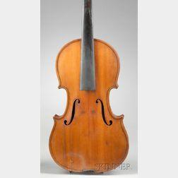 American Violin, J. Cross, Lebanon, c. 1890