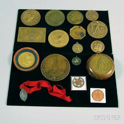 Seventeen Assorted Historical, Commemorative, and Collectible Medals