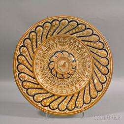 Large Italian Ceramic Charger