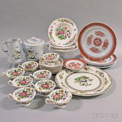 Twenty-eight Pieces of Copeland Spode Porcelain