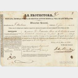 Cuban Slave Insurance Document